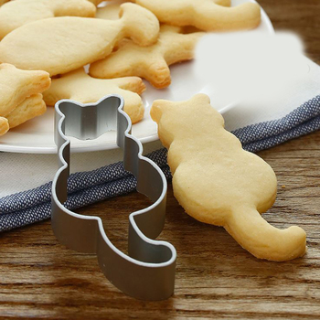 Cute Cartoon Cat Elephant Shapes Cookie Cutter Food Grade Stainless Steel Biscuit Mould Baking Tools