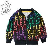 2019Spring New Boy Jacket Thin Street Sports Element Childrens Coat Letter Pattern Kids Outwear Autumn Cotton Girls Zipper Tops