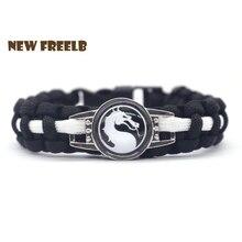 Классическая игра Mortal Kombat логотип 550 Паракорд браслеты дракон стекло черный цвет ручной работы ювелирные изделия на открытом воздухе путешествия отличный подарок