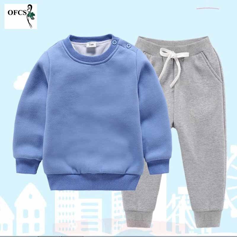 criancas terno de la de malha algodao camisola meninas meninos conjuntos infantil quente pulover calcas terno