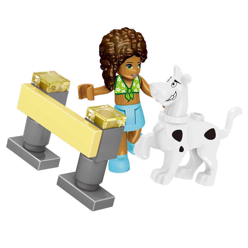Legoing przyjaciele księżniczka dziewczyna figurki klub impreza z piękną sukienką Olivia Kate Dancet Andrea zabawka budowlana lalka Legoings