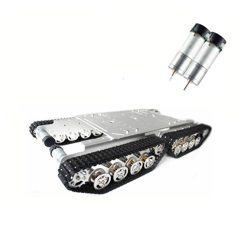 Kit de voiture de châssis de réservoir de moteur du cadre 9V d'alliage d'aluminium de voie de réservoir de TS600 4WD pour le Robot d'arduino