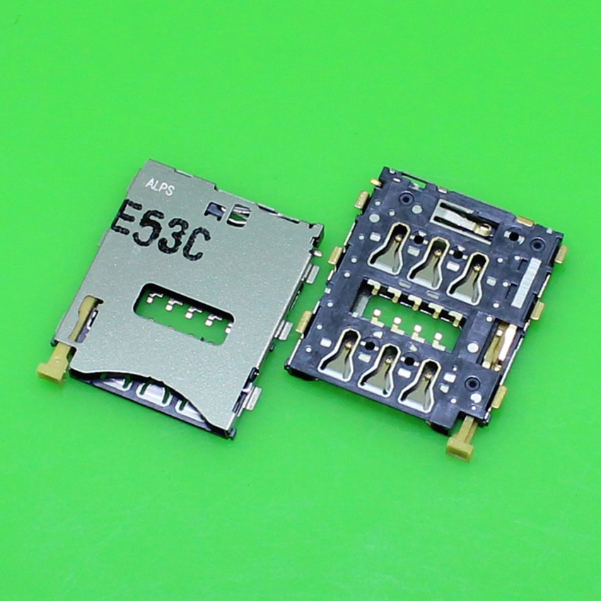 2pcs/lot high quality For Sony Xperia Z3 Compact Mini M55W Sim Card Tray Reader Holder Socket With Flex Cable