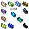 6x12 rectangle crystal beads elegant created beautiful shape Loose Beads Fit Jewelry DIY Necklaces or Bracelets