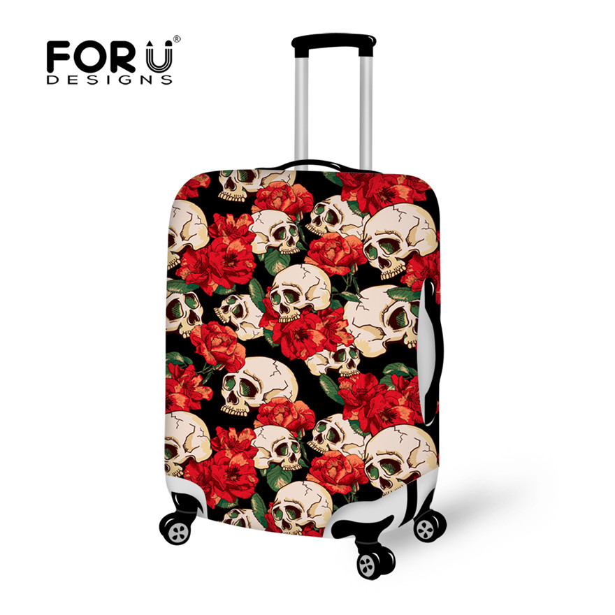 Cool Punk Skull Rain Dust Cover for Luggage Suitcase,Thick Elastic Stretch Waterproof Cover Apply To 18-30 Inch Trolley Cases