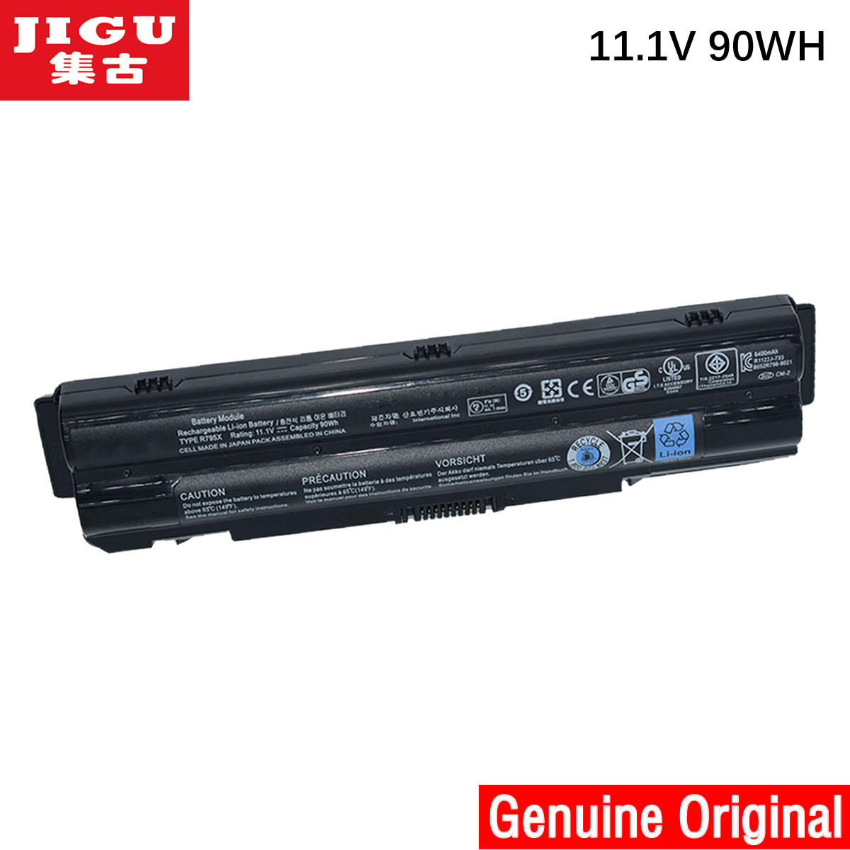 JIGU 312-1123 J70W7 R795X WHXY3 Original Laptop Battery For Dell XPS14 XPS15 L402x L501x L502x L701x L702x 11.1V 90WH 11 1v 90wh original battery for dell xps15 xps14 xps17 l702x l502x j70w7 r795x genuine xps14 xps15 high capacity battery 9 cell