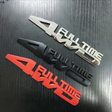 Metal 3D Car Styling 4WD Full Time Chrome Emblem Badge Truck Auto Gule Sticker Decal Accessories for Jeep Toyota Ford VW Subaru(China)