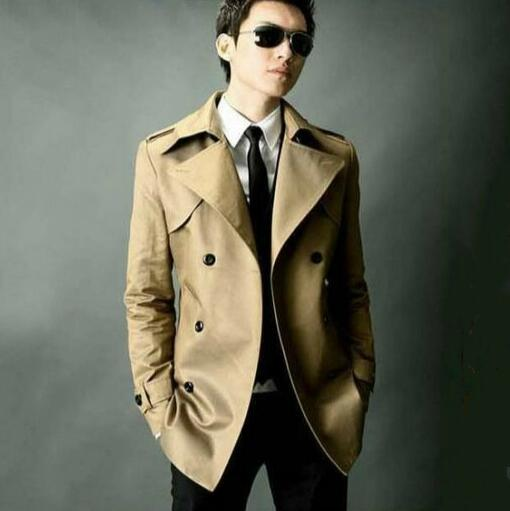 High quality autumn slim sexy trench coat men business outerwear fashion double breasted mens trench coat big size 8XL 9XL
