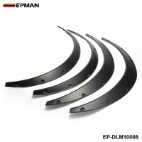 EPMAN 4 Pcs Car Fender Flares Arch Wheel Eyebrow Protector Mudguards Sticker Universal EP DLM10086