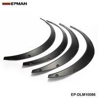 EPMAN 4 Pcs Car Fender Flares Arch Wheel Eyebrow Protector Mudguards Sticker Universal EP DLM10086