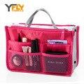 Y-FLY Maquillaje Bolsa Multifunción Organizador de Viajes Famosa Marca Mujeres Bolsas de Cosméticos Bolsa de Almacenamiento De Artículos de Tocador de Viaje de Las Señoras Bolsa NG04