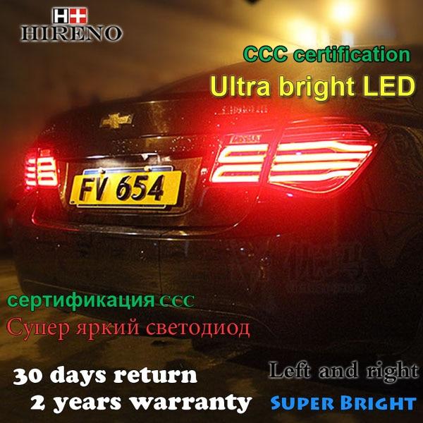 Hireno Tail Lamp for Chevrolet Cruze 2010 2011 2012 2013 LED Taillight Rear Lamp Parking Brake Turn Signal Lights