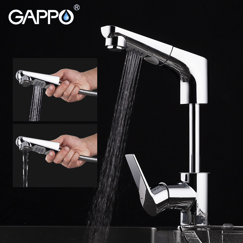 GAPPO Kitchen Faucet Pull Out Kitchen Sink Faucet Water Sink Mixer Crane Chrome Water Tap Kitchen Faucet With Spray