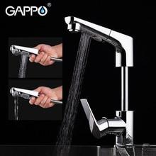 Gappo torneira da cozinha pull out torneira da pia da cozinha misturador de água da pia guindaste chrome torneira da cozinha com spray