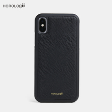 Horologii CUSTOM INITIALS FREE phone bumper case for Iphone X 7 plus Real cow leather mobile phone accessories dropship service