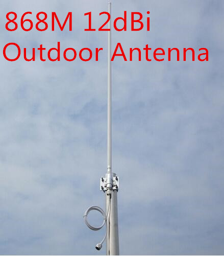 imágenes para 868 MHz antena de alta gain12dBi base de fibra de vidrio omni antena 868 MHz antena de techo monitor al aire libre N hembra