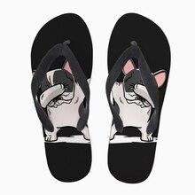 Тапочки по индивидуальному заказу, летние мужские повседневные Вьетнамки, модные, вытирая такса, забавный Doxie узор 3D, мужские летние пляжные сандалии на плоской подошве