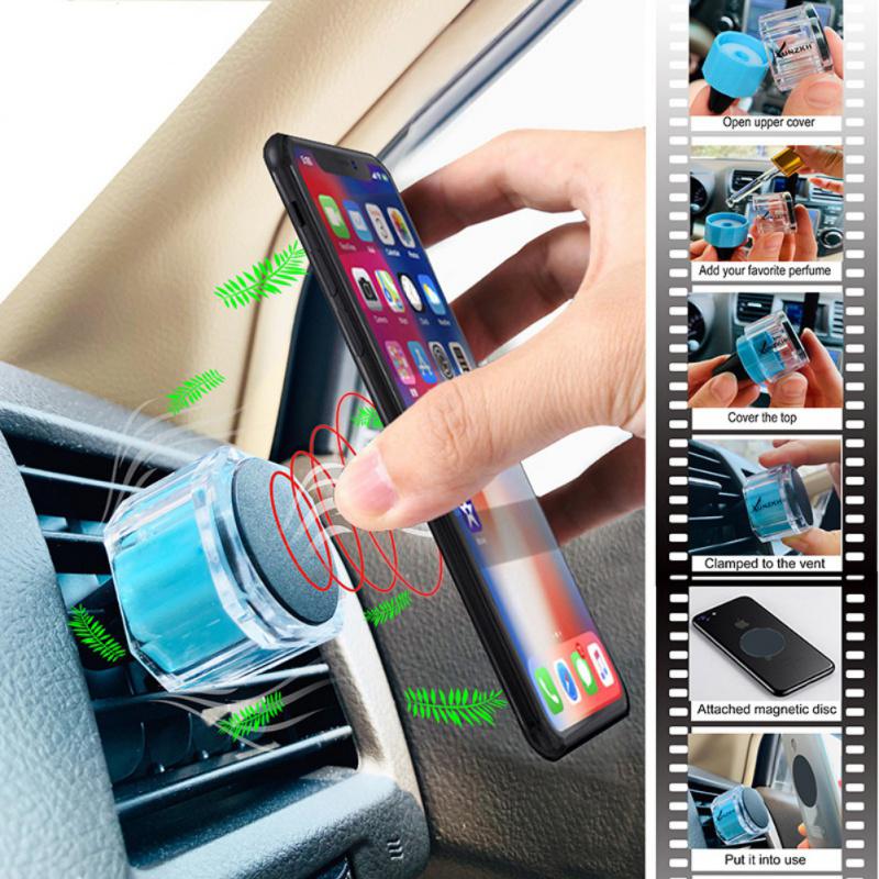 Car Multi-Function Mobile Phone Bracket Air Outlet Navigation Out Bracket Circular Magnetic Suction Port With Aromatherapy