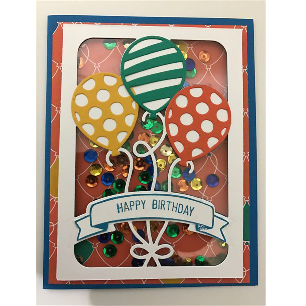 Balloons Cutting Dies Birthday Balloon Die Cuts Party Stencils Cards Crafting