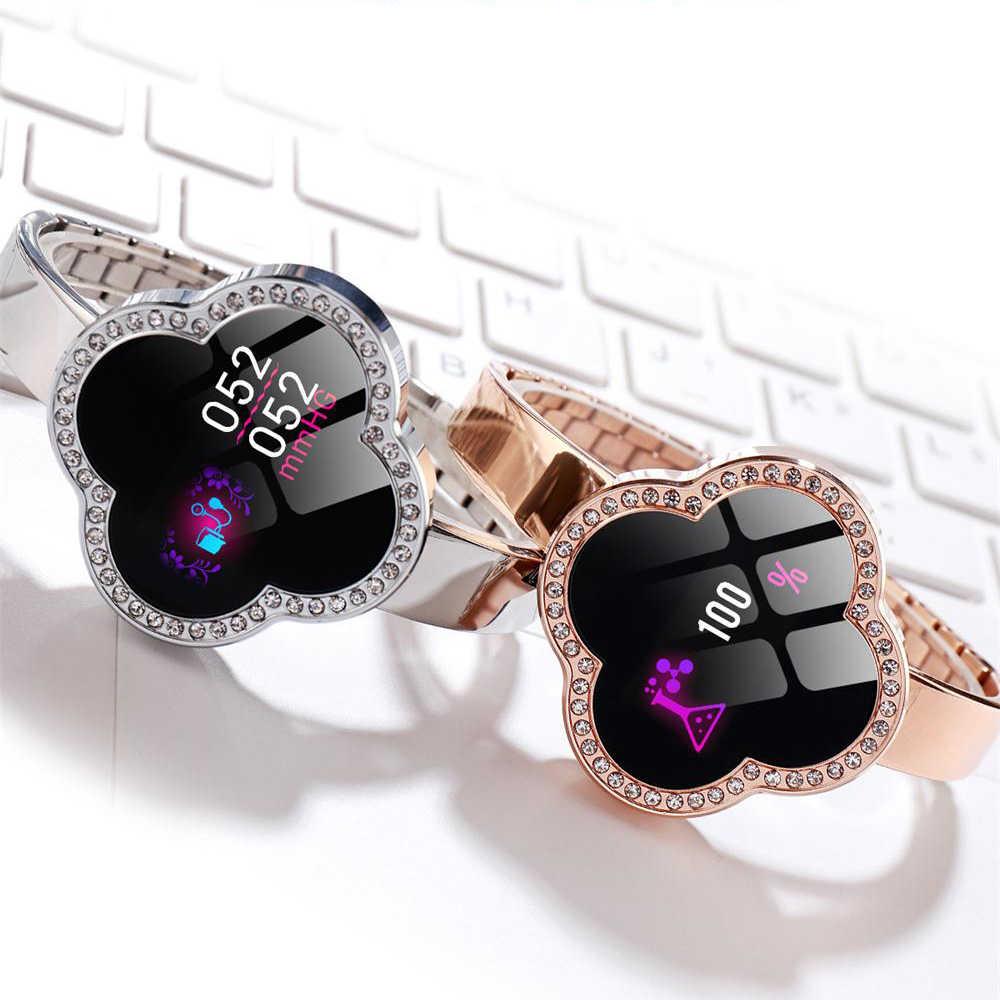MNWT S6 חכם שעון עמיד למים נשים קצב לב צג לחץ דם כושר Tracker Smartwatch ספורט שעון עבור ios אנדרואיד