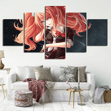 Wall Art Pop Canvas Paintings 5 Pieces Danganronpa Animation Pictures Home Decoration Poster For Living Room