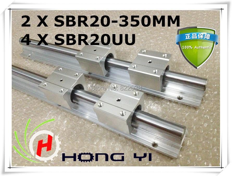 2 pcs SBR20 L = 350mm Linear Rails + 4 pcs SBR20UU straight-line motion block for SFU1605 Ball screw (can be cut any length) 2 pcs sbr16 l 1900mm linear rails 4 pcs sbr16uu straight line motion block for sfu1605 ball screw can be cut any length
