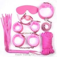 Seks oyuncakları çiftler için 7 adet bdsm kölelik yetişkin oyunları halat kelepçe yaka kırbaç flogger seks oyuncakları seks kölesi yetişkin seks ürünleri