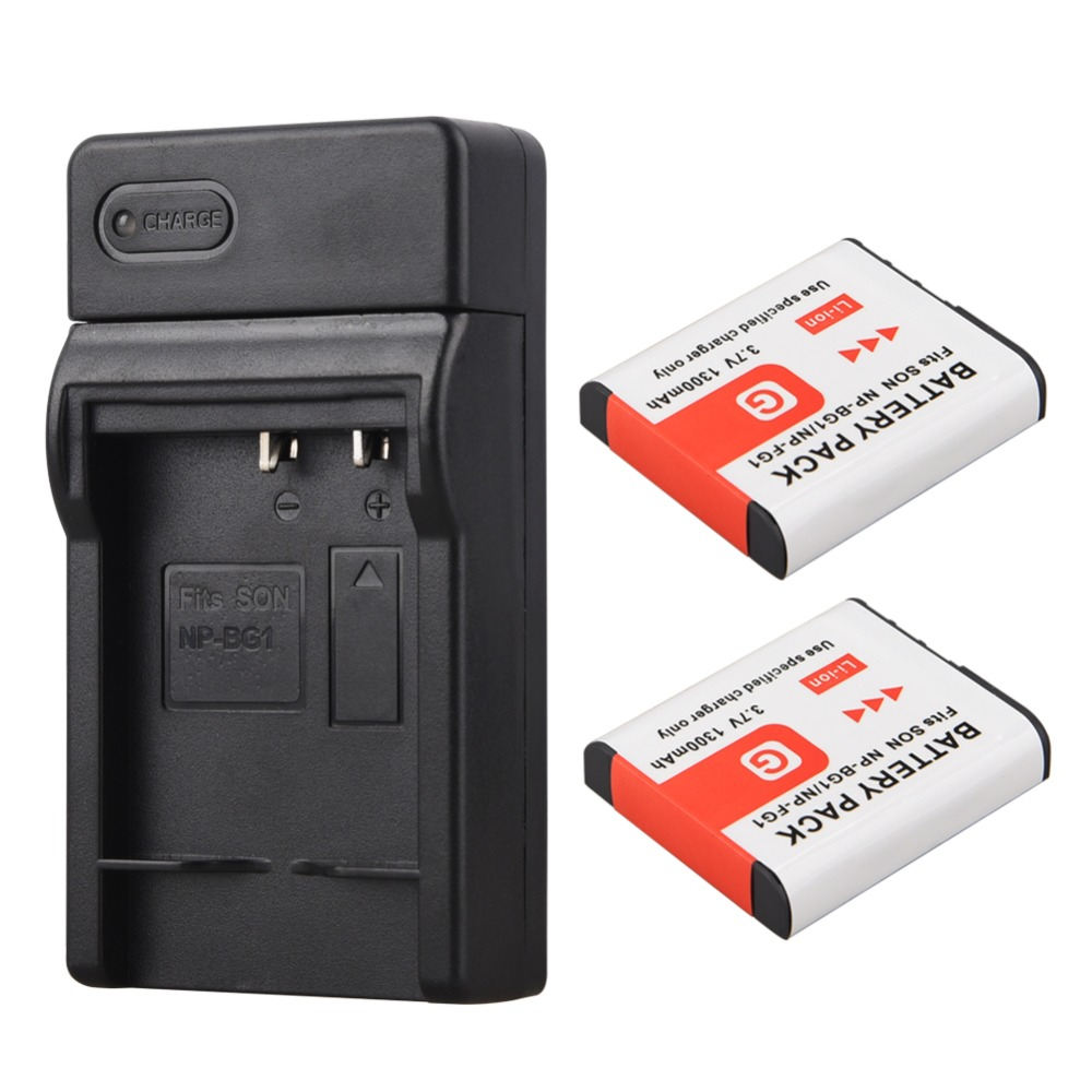 2x1300 mAh NP-BG1 NP BG1 NPBG1 Batterie + Usb-ladegerät für Sony DSC-H3 DSC-H7, DSC-H10 DSC-H20 DSC-H50 DSC-H55 DSC-H70