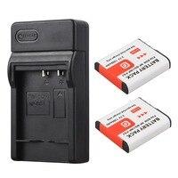 2x 1300mAh NP BG1 NP BG1 NPBG1 Battery USB Charger For Sony DSC H3 DSC H7
