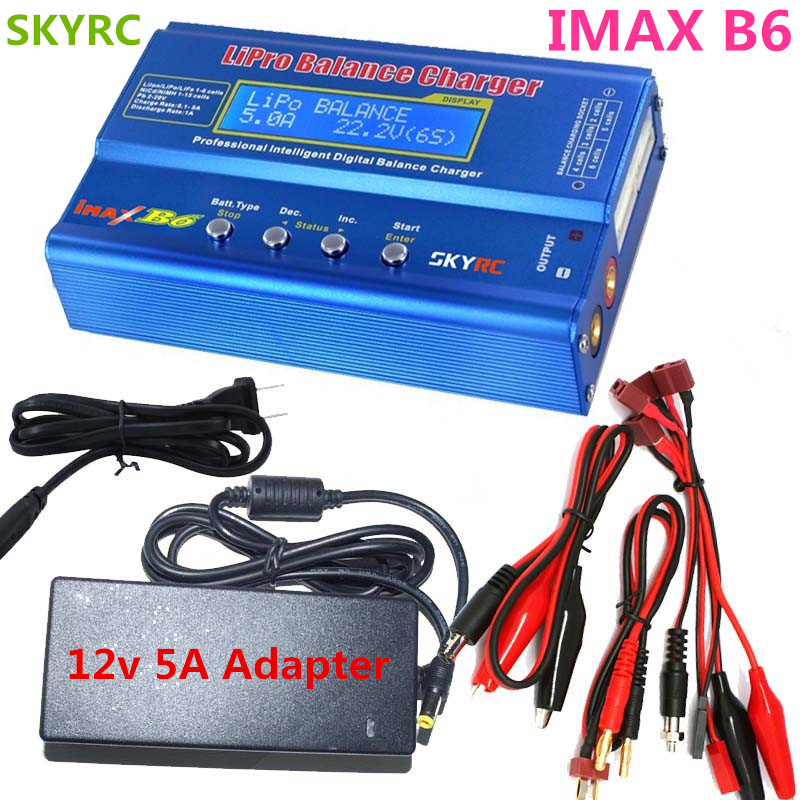 Original SKYRC IMAX B6 Digital RC Lipo NiMh Battery Balance Charger With AC POWER 12v 5A Adapter for RC Helicopter Toys skyrc efuel power strip with usb port power supply charger to five electrical devices 10 ampere for rc quadcopte toys helikopter