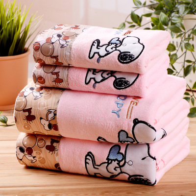 Image 5 - ZHUO MO 3 Piece Quick Drying Cartoon Microfiber Towel Set Bath Towel Face Beach Towel 450g Water absorbent toallas for Bathroom-in Towel Sets from Home & Garden