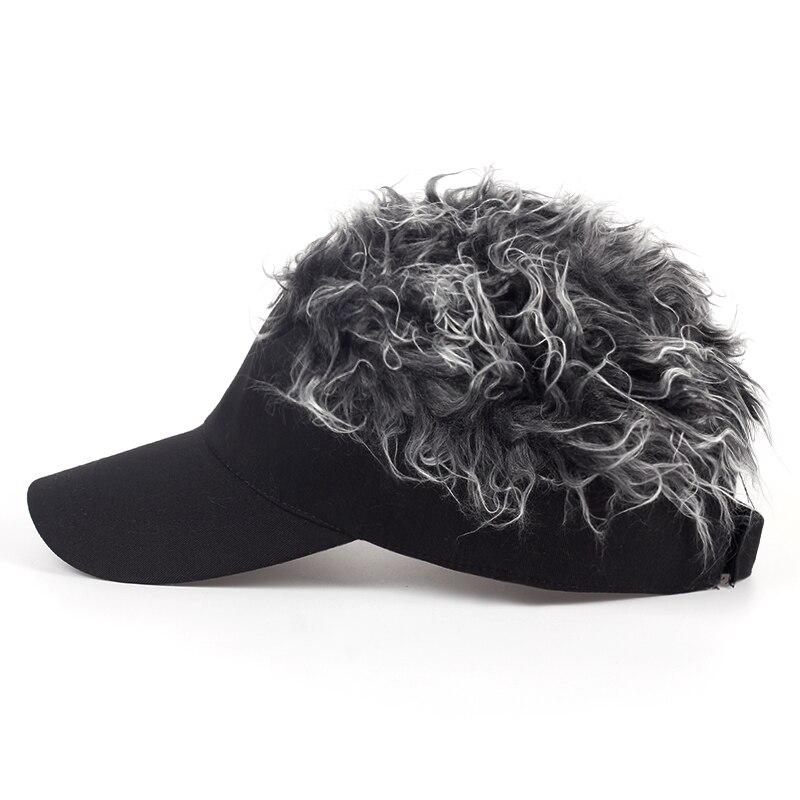 2017 nuovo Cappello Da Baseball Regolabile Uomo delle Donne della Parrucca  Toupee Divertente Perdita di Capelli Fresco Cappellini da Golf Novità Berretto  Da ... 37fac2d1135f