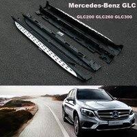 Автомобиль Бег Панели шаг в сторону Бар Педали для автомобиля для Mercedes Benz GLC x253 AMG glc200 glc300 2016.2017 высокое качество Фирменная Новинка Nerf бары