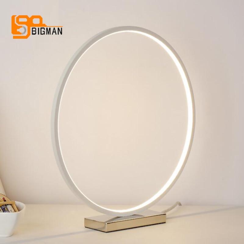Кольцо Дизайн Современный Настольный свет многоцветный Настольная лампа для спальни жизни освещения Диаметр 35 см