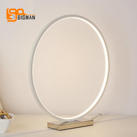 ring design modern table light multi color table lamp for bedroom living lighting diameter 35cm