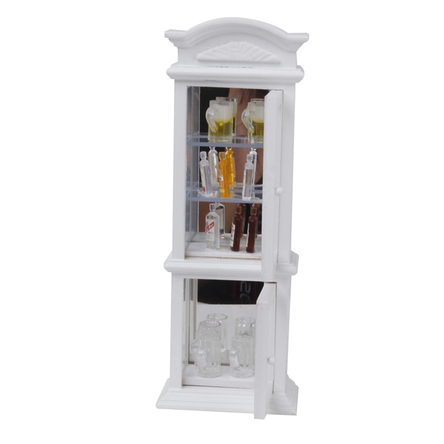 Stellingkast Wit Hout.Us 18 88 1 12 Dollhouse Miniatuur Wit Hout Kast Transparant Etalage Meubels Speelgoed Poppenhuis Decor Voor Kind Kids Poppen Acce In 1 12 Dollhouse