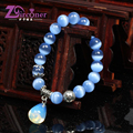 ZIRCONER 2017 Natural Cat Eye Stone Beads Bracelets For Women and Men Jewelry