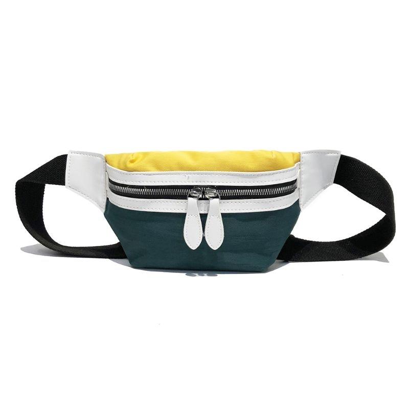 Women Canvas Fanny Pack Waist Wallet Belt Bag Outdoor Sport Phone Pouch Travel Bum Bags