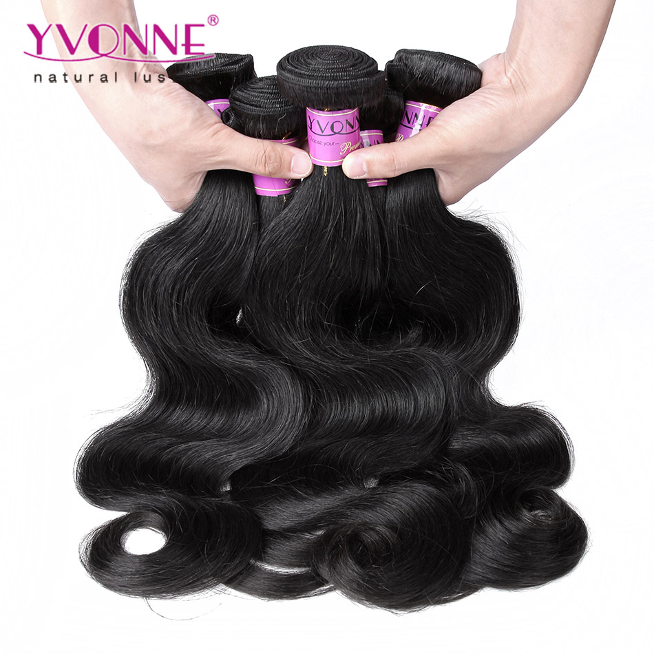 3 Bundles Peruvian Virgin Hair Body Wave, 100% Human Hair Weave, 8~28 Inches Aliexpress YVONNE Hair, Natural Color