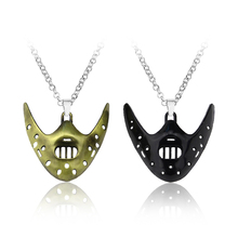 2 Colors The Silence of the Lambs Necklace Mask Hannibal Lecter Horror Pendant Necklaces Friendship Keepsake Gifts Jewelry