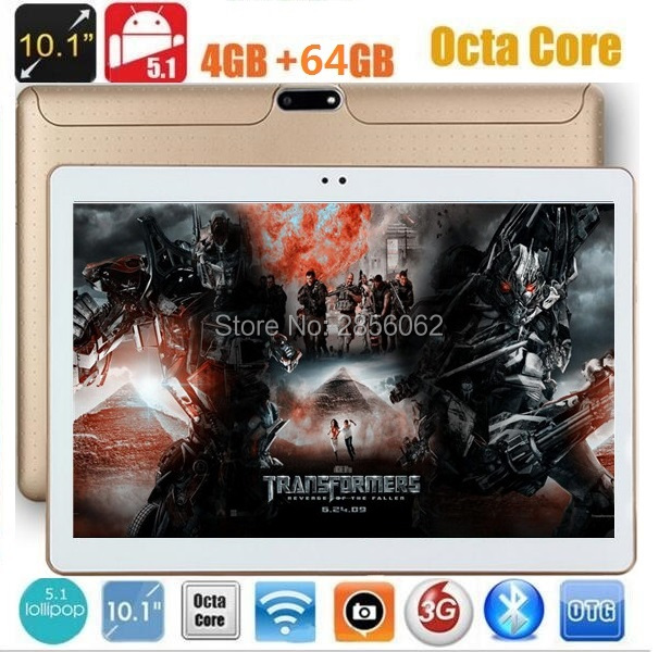 10 inch Android 5.1 TABLET PC Octa Core 4GB RAM 64GB ROM 8 Cores 1280*800 IPS Kids Gift MID GPS tablet Free Shipping
