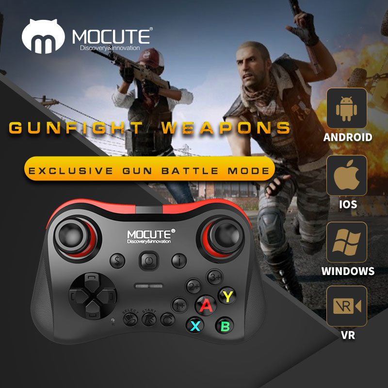 Mocute 056 Bluetooth Gamepad Mobile phone Joypad Wireless Joystick VR Controller for PUBG mobile iso android TV BOX PC Fortnite