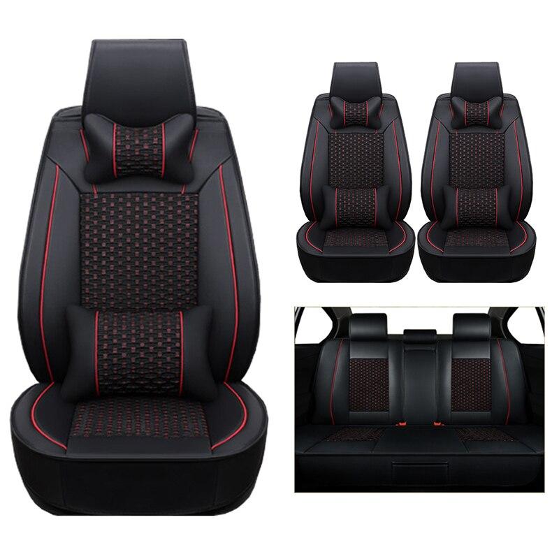 (Cuir + soie) housses de siège de voiture pour Land Rover Discovery 3/4 freelander 2 gamme Sport Sport Evoque accessoires voitures-style auto - 6