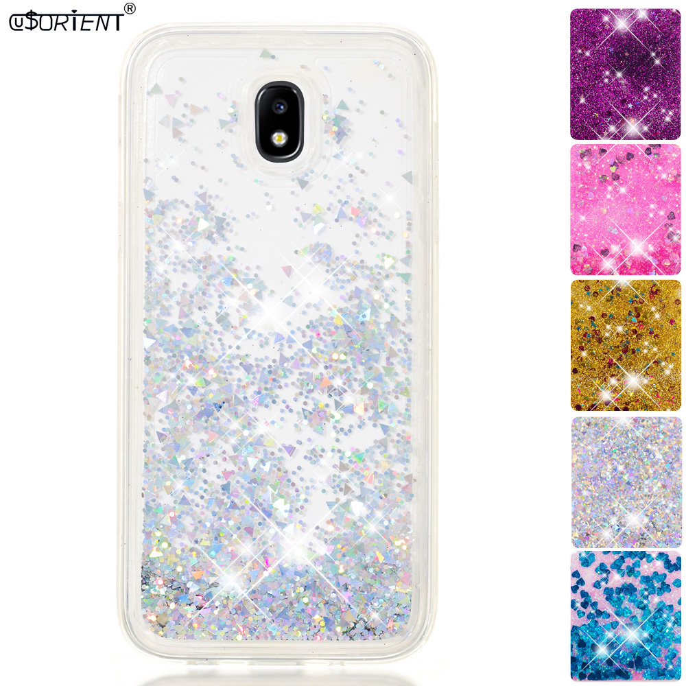 For Samsung Galaxy J7 Pro 2017 Bling Glitter Stars Dynamic Liquid Quicksand Tpu Cover Phone Case Sm-j730f/ds Sm-j730fm/ds Funda Pure And Mild Flavor Phone Bags & Cases Half-wrapped Case