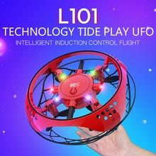 Анти-столкновения Мультикоптер UFO Мини-Дрон рук Летающий Глобус ручного управления светодиодный вертолет светодиодный индукции летающий мяч летательный аппарат игрушки с дистанционным управлением