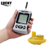 Russian Menu Lucky FFW718 Wireless Fish Finder Sonar Depth 40M 120FT For Ice Ocean River Lake