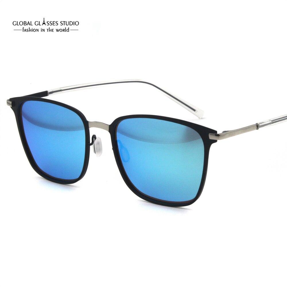 Métal Grève Super Mince Lunettes de Soleil Miroir Objectif Hommes Sport  lunettes de Soleil En Verre dfaa921fd620