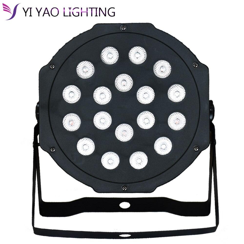 SıCAK yüksek kalite 18X3 W MINI PAR Can Ince Par Işık LED Düz Par64 RGB 3IN1 Tri|Sahne Aydınlatması Efekti|   -