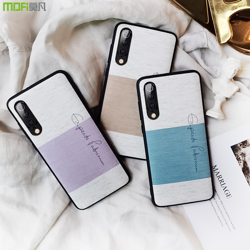 for xiaomi <font><b>mi</b></font> <font><b>9</b></font> <font><b>SE</b></font> case cover fitted back cover soft touch cotton cloth blue mi9 pride edition coque MOFi mi9 <font><b>global</b></font> case image
