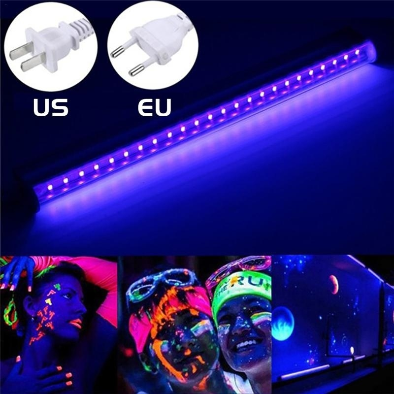 30cm 15W AC85-265V  24 LED UV Black Light Bar UV 395nm Blacklight DJ Party Club Halloween Effect Light Fixture  Decor EU/US